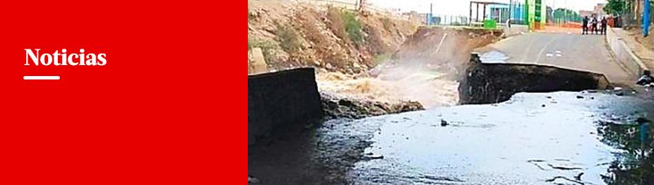 SMP: río Rímac destruye parte de pista cerca al Puente Dueñas